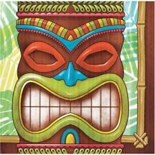 Tiki Time Beverage Napkins Bulk Pack Decorations Luau Hawaiian Party Supplies