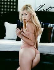 Arya Fae In Bra & Panties Nice Butt Adult Model Signed 8x10 Photo COA Proof 19