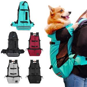 Dog Carrier Backpack Adjustable Pet Travel Bag for Travel Hiking Bike Labrador
