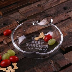 Personalised Apple-Shaped Glass Serving Dish - Customise This Any Way You Like!