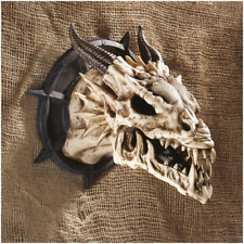 Design Toscano Horned Dragon Skull Wall Trophy