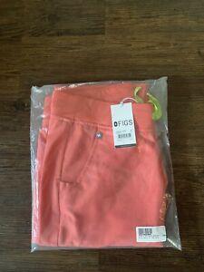 New!!! FIGS Women's Zamora 2.0 Jogger Scrub Pants Sz M Hot Coral