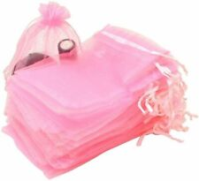 """50-Pack Organza Jewelry Pouch Gift Bag 3.54"""" x 2.76"""", Pink, New"""