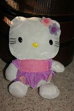 "Hello Kitty Plush Toy Doll Super soft Elko Inc. 13""  Pink Purple Lightweight  A8"