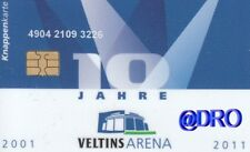 Knappenkarte + Schalke 04 + 10 Jahre Veltins Arena 2011 + Hülle + Restguthaben +