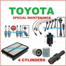 1997-00 4RUNNER TACOMA 2.4L TUNE UP KITS: SPARK PLUGS, WIRE SET & ENG. FILTER