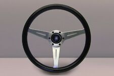 Nardi Marine Steering Wheel - 360 mm (14.17 in)- Black Plastic with Satin Spokes