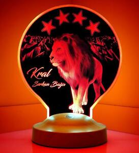 Galatasaray Löwe Personalisierte Lampe mit Wunschtext 3D - Geschenkbox
