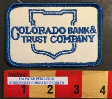 Patch Colorado Bank & Trust Company Advertising Logo Patch 57CC