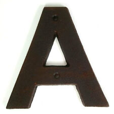 Cast Iron Metal Rustic House Number - Letter A - House Fence Letterbox - 125mm