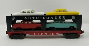 1950s Lionel 6414 Auto-Loader Car Carrier with Original Cars
