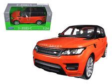 2015 Land Rover Range Rover Sport 1:24 Diecast Model Orange - Welly - 24059OR *