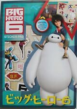 Disney's Big Hero 6 stickers PAD, Over 30 Stickers and 7 colour SCENES, BRAND NEW