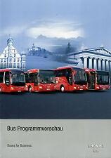 Prospekt MAN Bus Programmvorschau 9 06 2006 Posterprospekt Omnibus Busse range