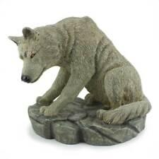 Vintage Resin Wolf Sculpture