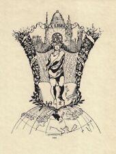 LEOPOLD HENDERYCKX: Exlibris für ABCDE, 1921