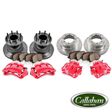 Front Rear Brake Calipers Rotors Pads For 1999 FORD F350 SUPER DUTY RWD Dually 2