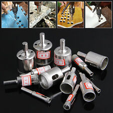 13Pcs 6-32mm Diamond Coated Core Saw Hole Drill Tool Kit For Glass Marble Tiles