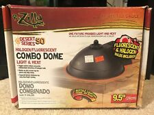 "Zilla Reptile 9.5"" Halogen Combo Dome Heater Lizard / Amphibian / Snake No Bulbs"