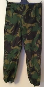 Waterproof and Breathable goretex Camo Trousers Elasticated waist and ankles VGC