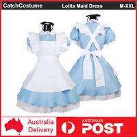 Alice/'s Adventures in Wonderland Alice maid dress Cosplay Costume cape