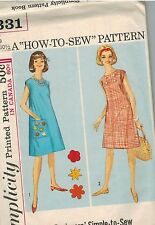 5331 Vintage Simplicity Sewing Pattern Junior Girls How to Sew Simple Dress 9J