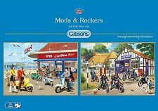 GIBSONS MODS AND ROCKERS 2 x 500 PIECE NOSTALGIA JIGSAW PUZZLE