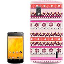 HardCase New Stylish für LG E960 Google Nexus 4 ZickZack Muster bunt Design