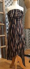 CACHE STRAPLESS Bandeau TUBE Mini Dress HI LO SHIMMERY Tunic Top PETITE USA XS