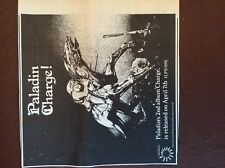 G1m ephemera 1972 advert paladin charge lp
