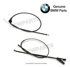 For BMW E70 E71 X5 X6 Pair Set of Front & Rear Hood Release Wire Cables Genuine