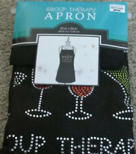 New listing Group Therapy Apron, Martini Glasses In Glitter