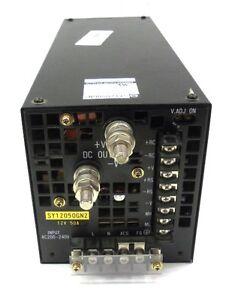SHINDENGEN POWER SUPPLY SY12050GN2, INPUT: 50/60 HZ, 200-240 VAC, 8.4A, 12VDC