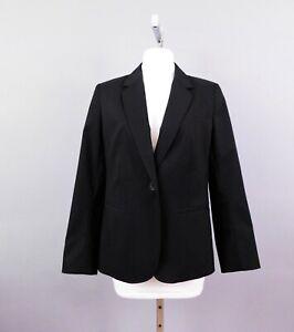 Talbots Women Blazer, Size 12P, Black, 54% Cotton, 40% Polyester, 6% Elastane