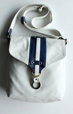 5163f3d4ddef2 Vintage Avorio White Crossbody Messenger Bag Shoulder Handbag Blue Striped  Flap