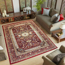 Traditional Medallion Oriental Style Thick Valentine Red Area Rugs Carpets Mat