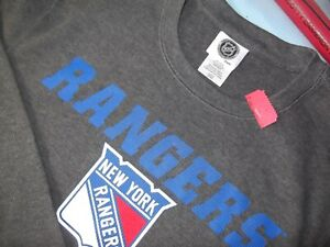 NHL OFFICIAL LICENSED PRODUCT - NEW YORK RANGERS WAFFLE THERMAL SHIRT - LS - L