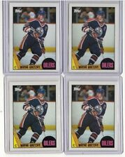 LOT 4x WAYNE GRETZKY 1987-88 TOPPS HOCKEY CARDS #53 GRADEABLE NM-MINT OILERS