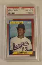 Sammy Sosa 1989 Topps M.L. Debut Rookie #120 PSA 10 Gem Mint 🔥 ESPN Series?