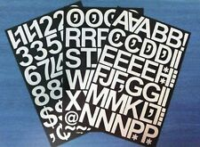 """2"""" (50mm) WHITE SELF ADHESIVE VINYL LETTERS NUMBERS & MARKS- DIY- SIGNS ETC"""
