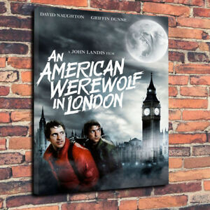 """American Werewolf In London Printed Canvas Picture A1.30""""x20""""~Deep 30mm Frame..."""