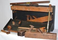 Vintage Carpenter Tools in Wooden Toolbox  [PL2265]