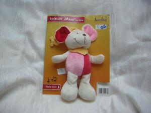 BAMBIA / SUNKID GmbH Spieluhr MAUS rosa rot weiß  ~schlaf Kindlein~  *NEU+OVP*
