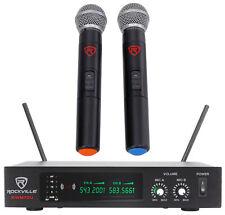 Rockville RWM70U doble sistema de micrófono Inalámbrico De Mano Uhf LCD