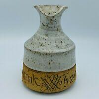 Studio Art Pottery Decanter Christian Scripture John 7:37 If Any Man Thirst