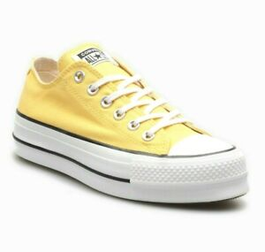 Converse CTAS Lift Ox Platform Butter Yellow 564385C Womens Sneakers
