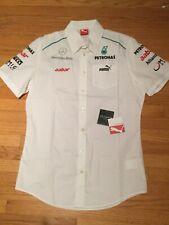 Brand New F1 Formula One Team Mercedes Petronas Crew Shirt by Puma Sz S