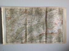 Switzerland, Leysin-Diablerets, 1923 Vintage Map, Atlas Original