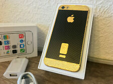 Apple iPhone 5S 64GB 24K vergoldet Gold Schwarz Kristallen