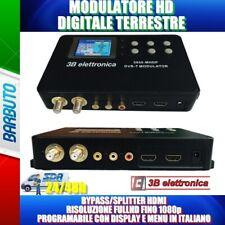 MODULATORE DIGITALE TERRESTRE FULLHD DVB-T FINO A 1080p Ingresso LOOP HDMI